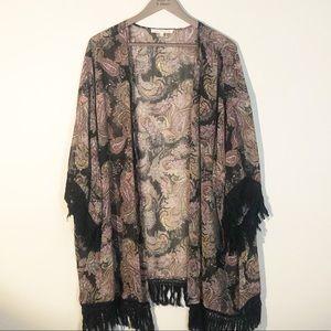 Daniel Rainn Paisley and Fringe Kimono